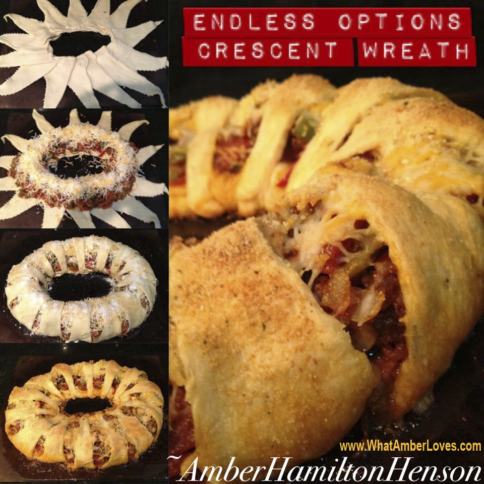 Ok, the crescent roll wreaths… Love them!! Here we go…