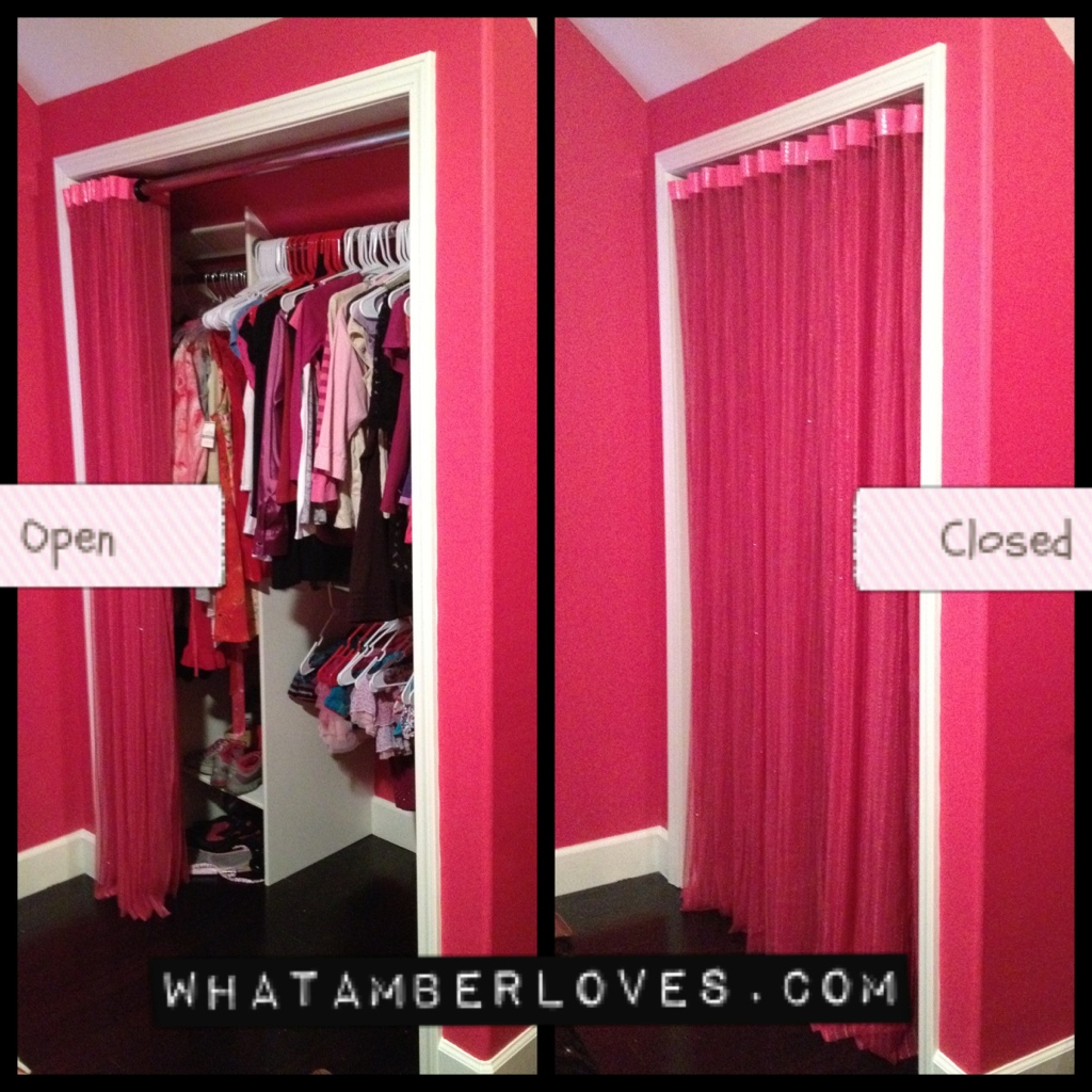 Hot Pink Duck Tape Curtains | what AMBER loves