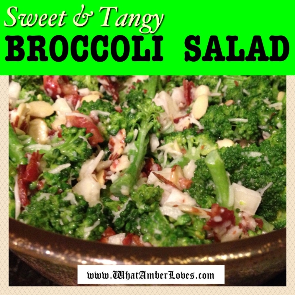 Broccoli Salad ~Sweet & Tangy (1/4)