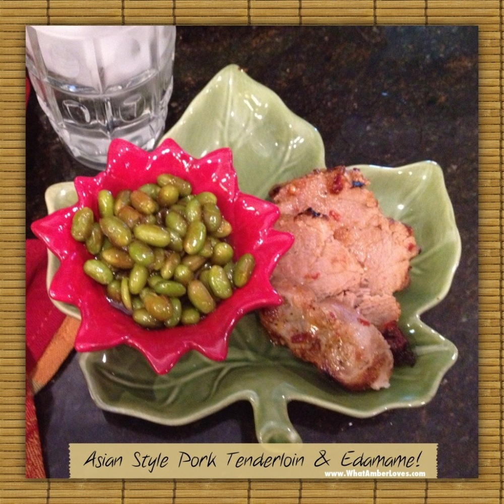 Asian style tenderloin and edamame! (4/6)