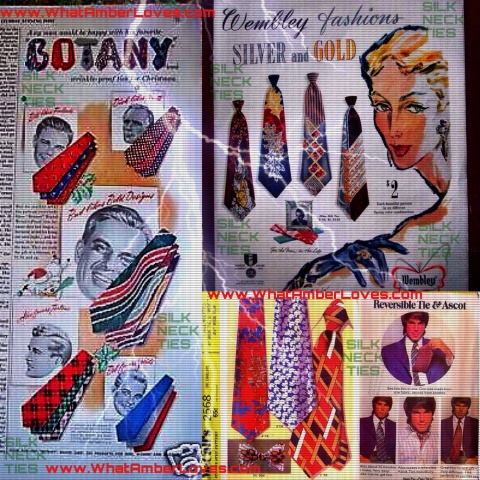 Necktie Ephemera Collage