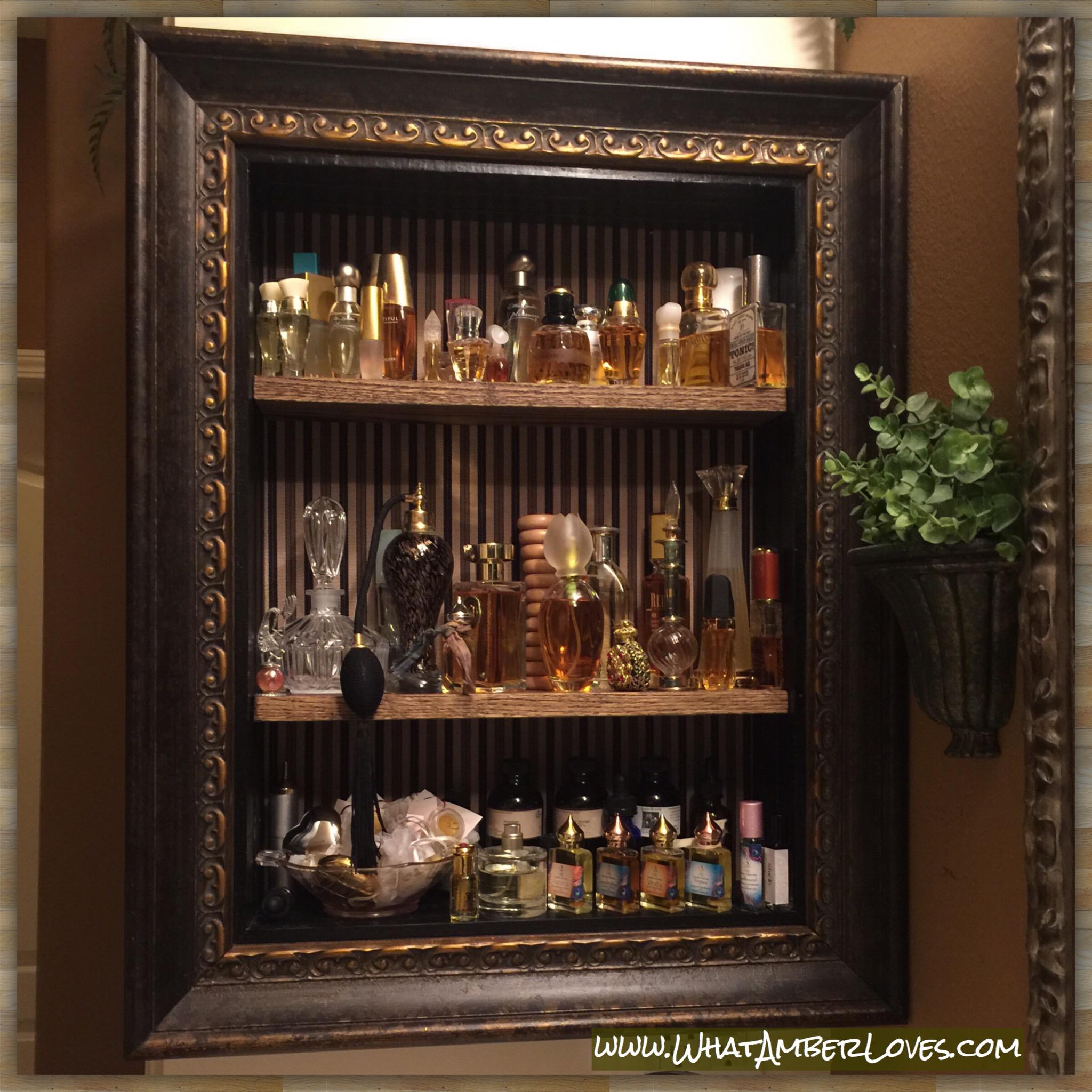Perfume Cabinet. Perfume Storage Case Three Display Cases Of ...