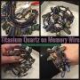 Titanium QUARTZ Memory WireBracelet!